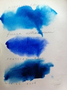 Differences between —> french ultramarine   prussian blue   marine blue