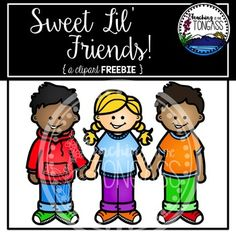 This FREE clipart set features 3 little friends holding hands! Feedback isn't required, but it's very much appreciated!Please read my Terms of Use prior to purchasing. Classroom Clipart, School Clipart, Digital Paper Freebie, Digital Papers, Friends Holding Hands, Free Clipart For Teachers, Art Worksheets, Language Activities, Working With Children