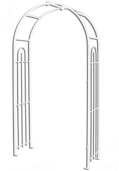 Panacea Products Arched Top Garden Arbor, White by Panacea Products. $135.34. Arched top garden arbor in white color. A straight rod with a finial completes each side panel, creating a slight grid for vines or plants to grow through. Measures 90-inches in height by 48-inches in width by 18.25-inches in depth. Powder coated finish. The metal construction will last for several seasons and the white powder coated finish will look great year after year. This arbor has an ar...
