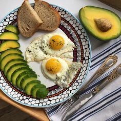 Завтрак, авокадо, полезное питание