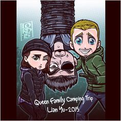 Queen Family Camping Trip at Lian Yu with Slade Wilson - 2015