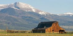 Old barn with cattle and Sangre de Cristo mountains from near Westcliffe, Colorado - http://fineartamerica.com/featured/westcliffe-colorado--old-barn-aaron-spong.html Photography by Aaron Spong.