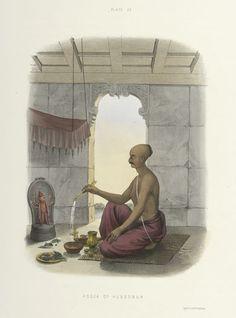 leradr: Digital Rare Book:The Sundhya or the Daily Prayers of. Om Namah Shivaya, Frog Illustration, Hindu Rituals, Picture Composition, Lord Shiva Painting, Hindu Deities, Hinduism, India Art, Buddha Art
