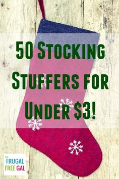 50 Stocking Stuffers for #Christmas for Under $3!