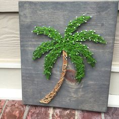 MADE TO ORDER Palm Tree String Art Sign by StringsbySamantha
