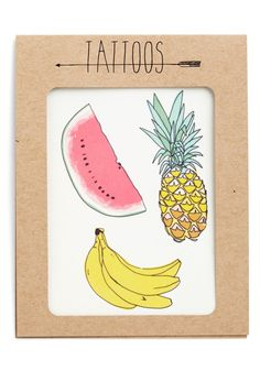 Fruit for Thought Temporary Tattoo Set. Need to sweeten up your ensemble? #multi #modcloth @Jessica Hampshire its everywhere!