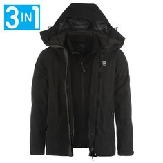 Protect yourself against the elements wearing theKarrimor Jackets, benefitting from an inner fleece for comfort with two pockets to keep valuables dry, featuring a removable, waterproof coat to allow for change in weather with two concealed pockets and a zip up front for a secure fit. Ideal for outdoors, the Karrimor Jacket benefits from an elasticated hood for extra protection, adjustable cuffs with hook and loop fasteners, a padded collar and is complete with the Karrimor logo to the…