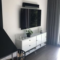 Sonos, Double Vanity, Living Room Furniture, Tv, Interior, House, Instagram, Home Decor, Hall Furniture