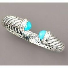 David Yurman Turquoise Waverly Bracelet,925 silver jewelry - Polyvore