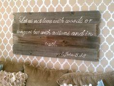 Vintage Romance: reclaimed fence wood sign tutorial