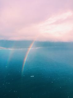 maui from above. #rainbows
