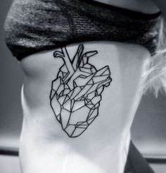 Check out >> Geometric coronary heart tattoo...