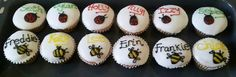 Personalised cupcakes for children :)