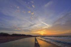Sunrise at Laguna del Mort - The Mort lagoon at dawn, watching the sun rise.