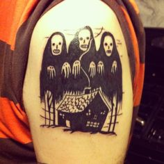Haunted House by The Gus at Olde City Tattoo, Philadelphia.