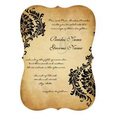Discount DealsGolden Vintage Black Damask Wedding Invitationsin each seller & make purchase online for cheap. Choose the best price and best promotion as you thing Secure Checkout you can trust Buy best