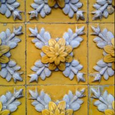 Coimbra, Portugal - handmade tiles can be customized Love the blue/grey ///gold Antique Tiles, Vintage Tile, Tile Art, Mosaic Tiles, Mosaic Art, Portugal, Decoupage, Portuguese Tiles, Tuile