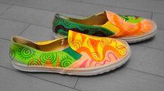 Doodle Shoes (painting) by Cindy Suen