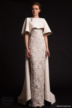 Luxury Krikor Jabotian Long Evening Dresses With Cape Beaded Appliques Elegant Evening Gowns Formal Red Carpet Dresses Evening Wear Cheap Evening Dresses 2011 D Elegant Dresses, Formal Dresses, 2015 Dresses, Long Dresses, Dresses With Capes, Club Dresses, Dresses Online, Prom Dresses, Party Kleidung