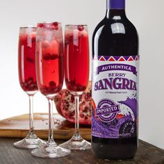 Make this easy and delicious Bubbly Berry Sangria for any celebration!  What you'll need: -Authentica Berry Sangria -Sparkling Wine (we recommend Lost Vineyards Spumante) -1 Pomegranate  -Ice cubes  Prepare glass with ice cubes. Mix Authentica Berry Sangria and Spumante about 50/50. Add a splash of juice from the pomegranate to taste. Garnish with the seeds and enjoy! #sangria #cocktailrecipes #drinkrecipes #authenticasangria #sangriacocktails #mimosas #berrysangria Sangria Recipes, Cocktail Recipes, Cocktails, Berry Sangria, Mimosas, Sparkling Wine, Ice Cubes, Fine Wine, Pomegranate