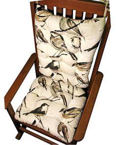 madrid check lake blue child rocking chair cushions latex foam