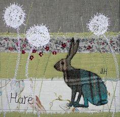hare embroidery/ applique