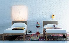 #UnaNotte is a single bed with wooden frame by #EmafProgetti for @zanotta . Padded headboard coated in leather or fabric.