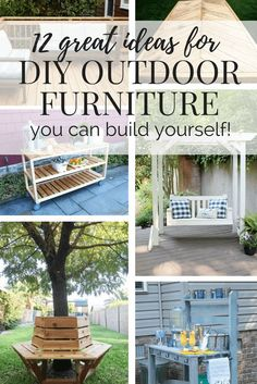 Easy, affordable, simple DIY outdoor furniture ideas. Plans, tutorials, and tips for building your own outdoor furniture.
