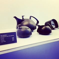 Walter Gropius Tea Set at the Wolfsonian Museum Shop via y3_sf on Instagram