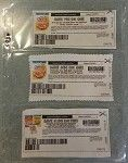 3-pocket couponing sleeves are good for rainchecks, internet coupons or catalina (register) coupons.