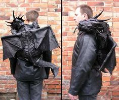Dragon Backpack  Bob Basset from Ukraine has designed a cool looking dragon backpack, made out of leather. [link]