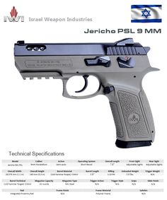 IWI - JERICHO PSL 9 MM Weapons Guns, Guns And Ammo, Baby Desert Eagle, Remington 700, Tac Gear, Krav Maga, Military Guns, Fire Powers, Tactical Gear