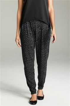 Animal Print Jersey Trousers - love these