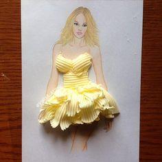 Edgar Artis butter dress