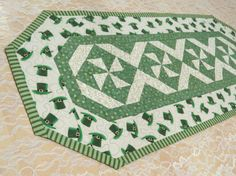 St Patrick's Day Table Runner Reversible           by QuiltinWaYnE, $55.00