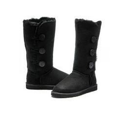 UGG Boots Bailey Button Triplet 1873 Black