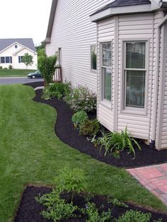 landscaping along side of house - Google Search