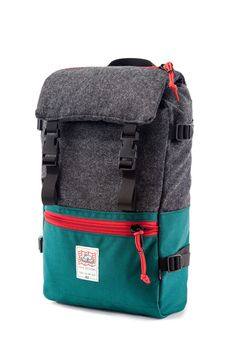 Topo x Woolrich Rover Pack Teal Gray
