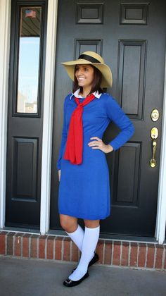 Book Character Dress Up Day Costume - Madeline! Recognizable costume, easy to recreate, perfect for an elementary teacher.