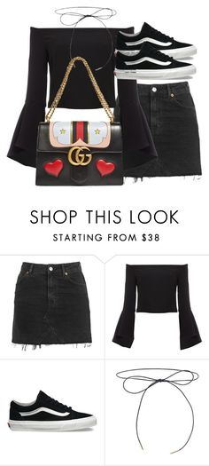 """Untitled #2582"" by theeuropeancloset ❤ liked on Polyvore featuring Topshop, Bardot and Vans"