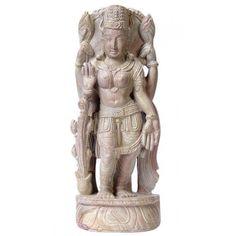 Goddess Lakshmi - Stone Statuette Stone Sculpture, Garden Sculpture, Goddess Lakshmi, Sculptures, Statue, Outdoor Decor, Home Decor, Art, Art Background