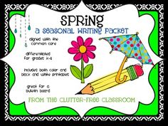 This 26 page versatile packet includes both color and black and white ink-saving outlined image pages so you can pick which you want to use. It also includes clip art to accent your anchor charts when teaching or to display on a bulletin board with the final writing pieces. You can use it to teach writing with any spring-themed topic/assignment. I've aligned it with the K-4 Common Core Standards for you. It could also be used to meet 5th and 6th grade standards as well.
