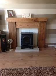 Railway sleeper fire place