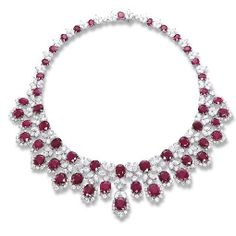 AN IMPORTANT RUBY AND DIAMOND NECKLACE, BY BULGARI