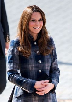 Kate Middleton wears rare tartan coat on her visit to Scotland