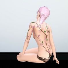 My Sims 3 Blog: Sakura Tattoo by Fuyaya