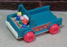 Vintage Fisher Price Little People Work Truck  / Wood Family  #FisherPrice