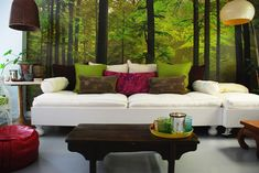 Lounge seating with natural elements