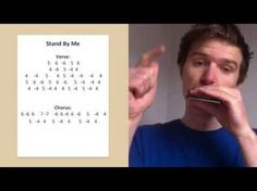 'Stand By Me' Harmonica Lesson (Saturday Song Study Harmonica How To Play, Harmonica Lessons, Violin Lessons, Stand By Me, Violin Stand, Music Tabs, Music Notes, Guitar Stickers, Love Me Do