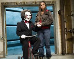 "Love this scene from the movie ""Scary Movie 4"" with Brenda Meeks (Regina Hall) and Jigsaw!"